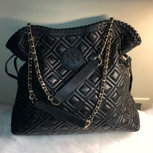 Authentic Pre-owned Tory Burch Black handbag.